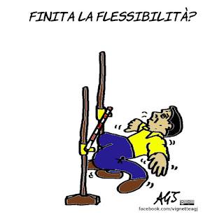 renzi, flessibilità, europa, economia, vignetta, satira