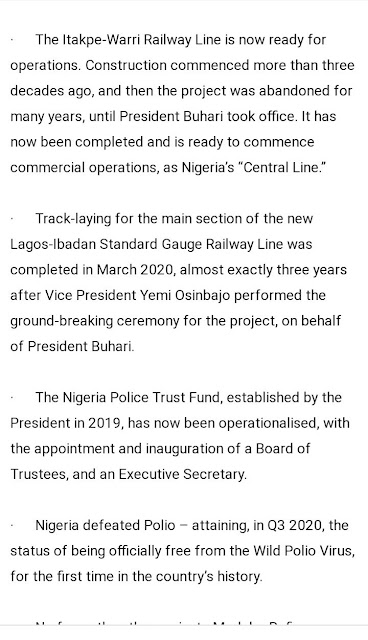 BC0E5B04 BBC8 4A67 82E5 77B3BB6FF661 - Buhari lists CAMA, 774,000 jobs, NYSC allowance, others as second-term achievements [Full list]