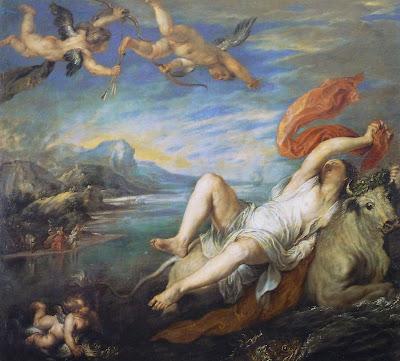 El Rapto de Europa pintado por Rubens