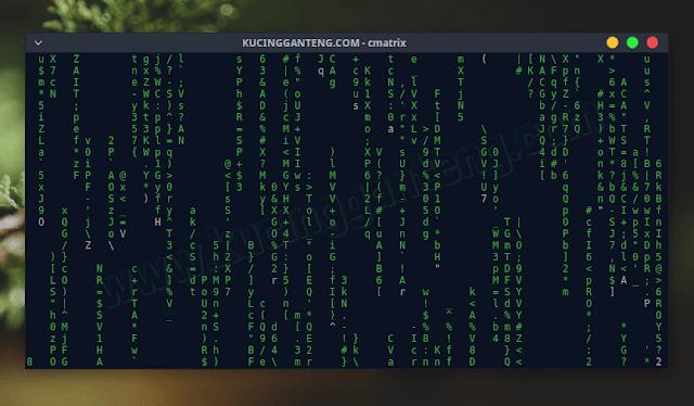 Cara Menampilkan Efek Matrix di Terminal Linux