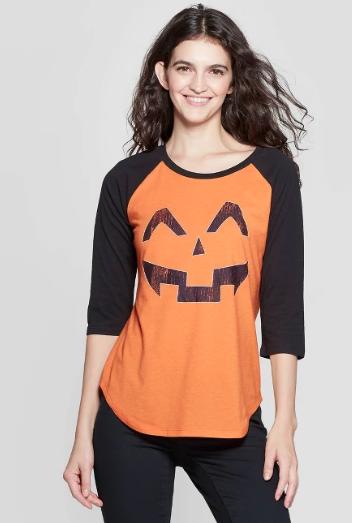 Women's 3/4 Jack-O-Lantern Shirt