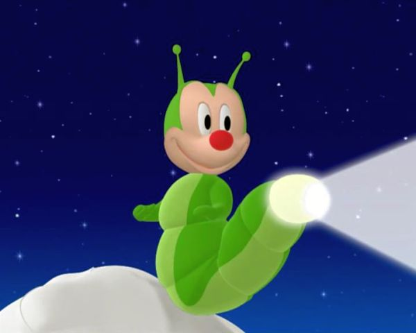 MICKEY MOUSE: Okay, Mr. Glowing Glow Worm, do your stuff.