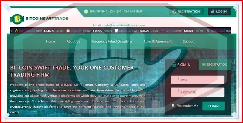Мошеннический сайт bitcoinswiftrade.com – Отзывы, развод, платит или лохотрон? Мошенники