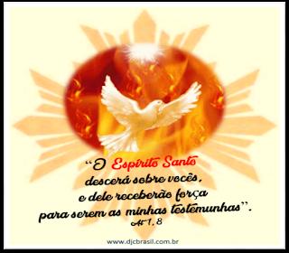 Imagem do Espírito Santo com versículo de Atos dos Apóstolos!