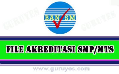 fisik-standar-isi-akreditasi-smp-mtsterbaru-2019