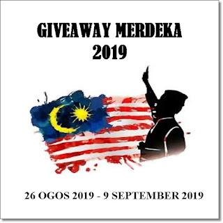 Giveaway Merdeka  2019, blogger, blog, hadiah,