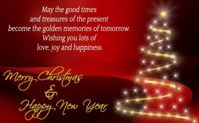 Merry Christmas And Happy New Year Quotes Message