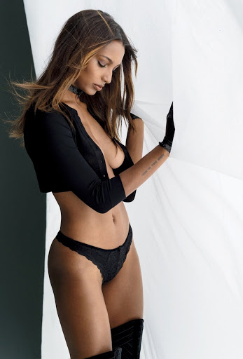 Jasmine Tookes topless photo shoot Maxim magazine models