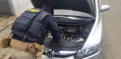 Em Santana do Ipanema/AL,  PRF prende motorista com carro roubado na BR-316