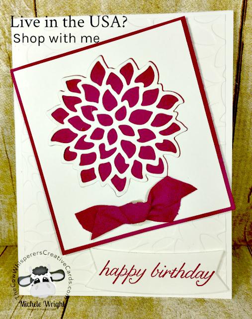 Card, May Flowers Thinlits, Petal Burst Embossing Folder, Duet Banner Punch