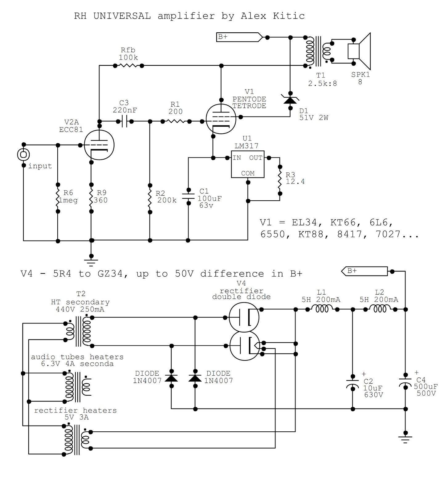 Bridge Rectifier Schematic Simple Circuit