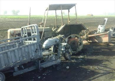 بحريق خط أنابيب بترول عزبة المواسير  مركز إيتاي البارود إحالة 10 متهمين  للمحاكمة الجنائية