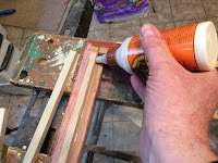 Apply glue along the inside edge of the lid