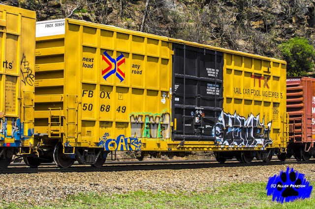 Railroad Photography! Yellow Freight Car! Art of the Freight Cart, Rail Art Series!