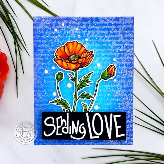 Cardbomb, Maria Willis, Hero Arts, Spring Catalog Release 2021, cards, cardmaking, stamps, stamping, ink, paper, papercrafting, art, diy, handmade, color, coloring, ink blending, heat embossing,watercolor,copics,copic markers,flowers,