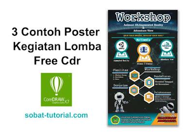 3 Contoh Poster Kegiatan Lomba Free Cdr