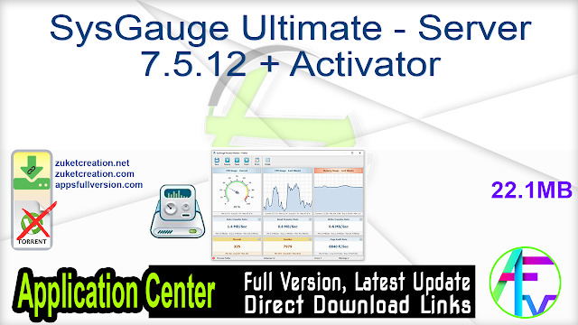 SysGauge Ultimate – Server 7.5.12 + Activator