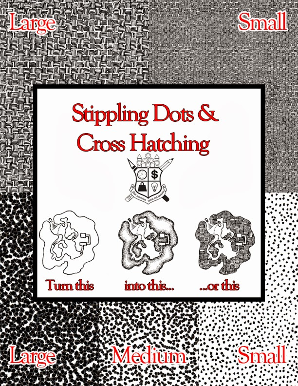 New Frugal GM Product: Stippling Dots and Cross-Hatching for Maps