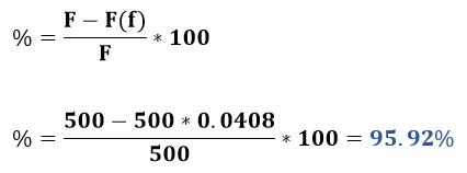 Porcentaje de soluto recuperado ejemplo 1