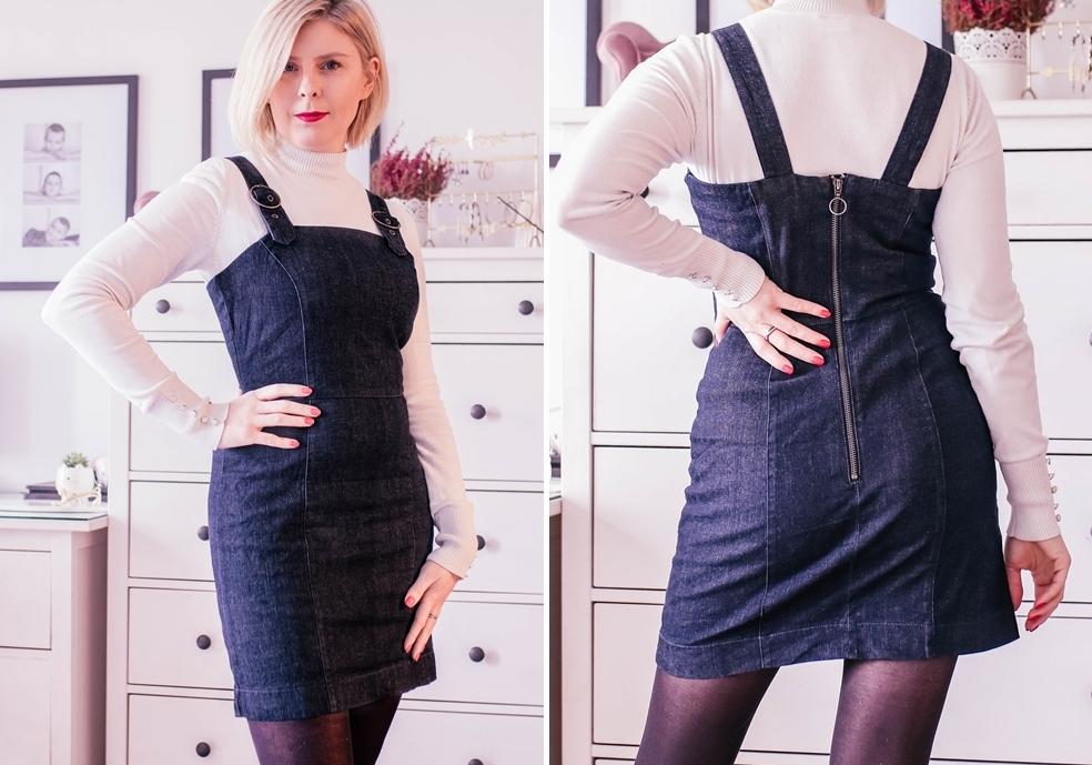 Jeansowa sukienka na ramiączkach ze stretchem (Bonprix nr art. 91544681)