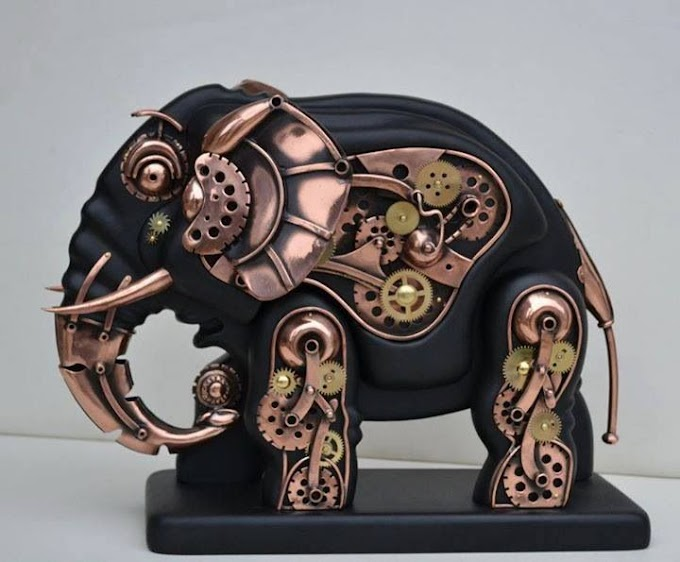Steampunk Elephant Sculpture