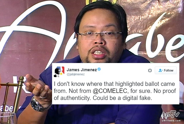 COMELEC over highlighted ballots: a digital fake