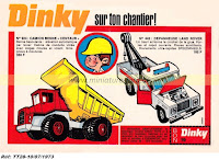 Publicités Dinky Toys de l'année 1973, réf TT-28