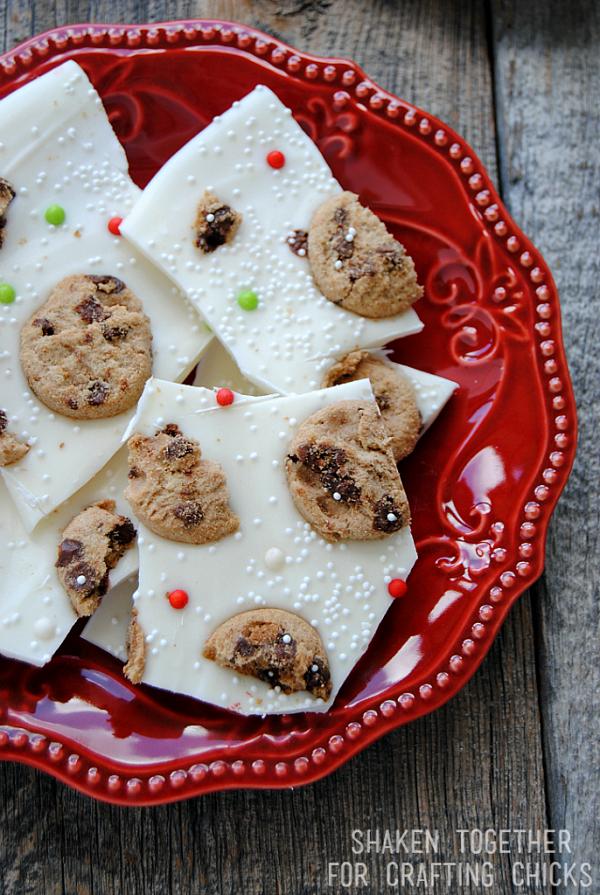milk and cookies bark