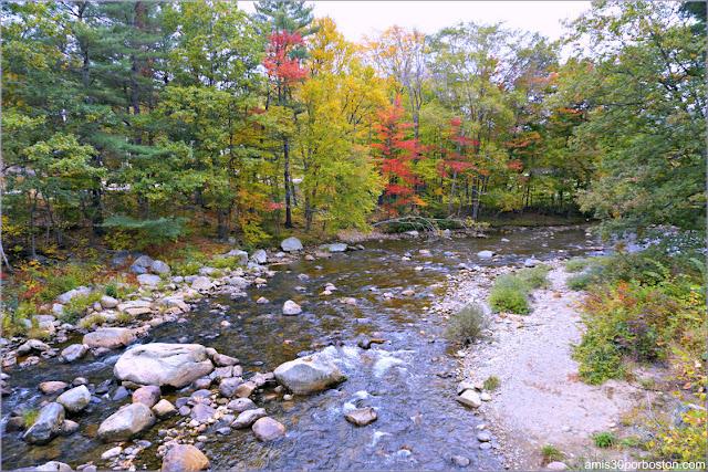 Río Ellis a su paso por Jackson Bridge en New Hampshire