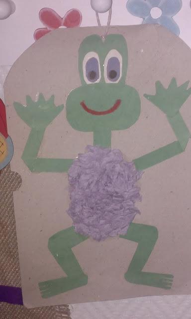 askarteluohje kortti sammakko lapsi osaa