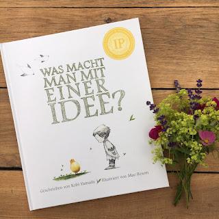 """""""Was macht man mit einer Idee?"""" von Kobi Yamada, illustriert von Mae Besom, Adrain Verlag, Bilderbuch, Rezension von Kinderbuchblog Familienbücherei"""