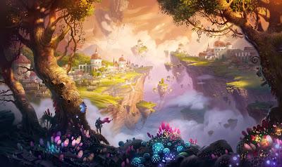 Fantasía; Ilustración por Ivan Laliashvili
