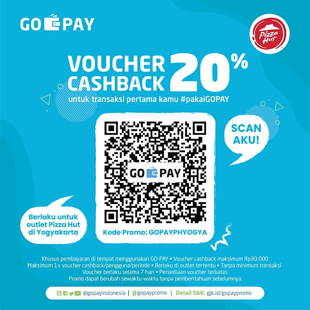 #GOPAY - #Promo Voucher Cashback 20% di PizzaHut  Maks 30K