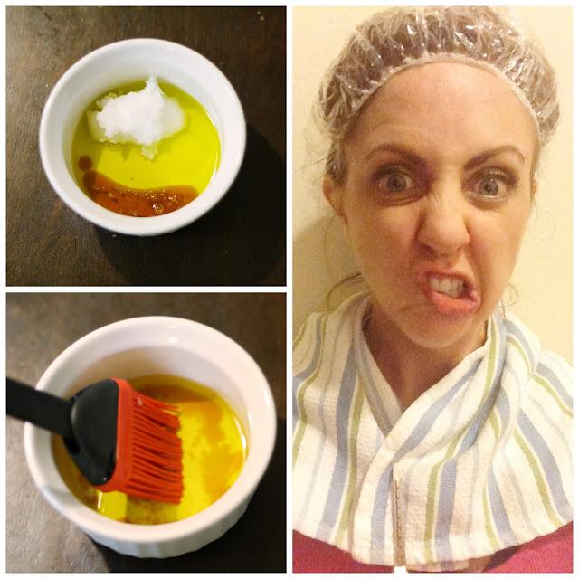 DIY All Natural Hot Oil Hair Treatment by beauty blogger Meg O. on the Go