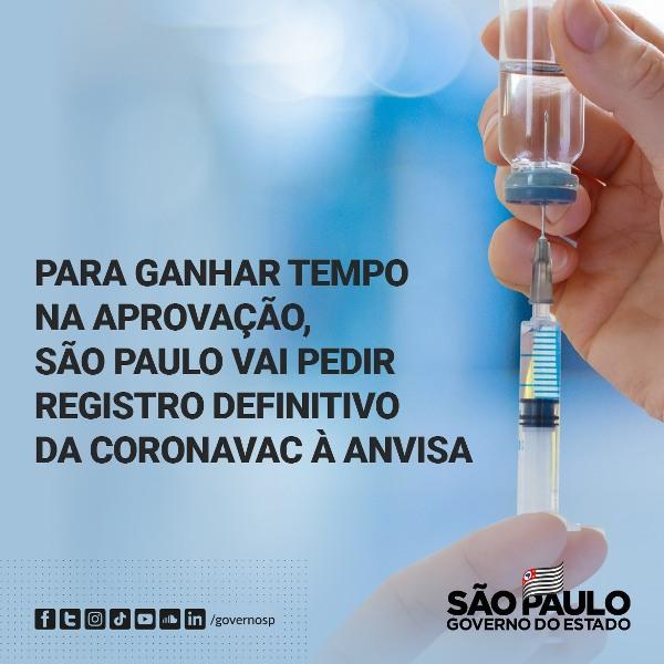 São Paulo conclui estudo final da Coronavac nesta semana