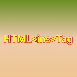 HTML <ins> tag