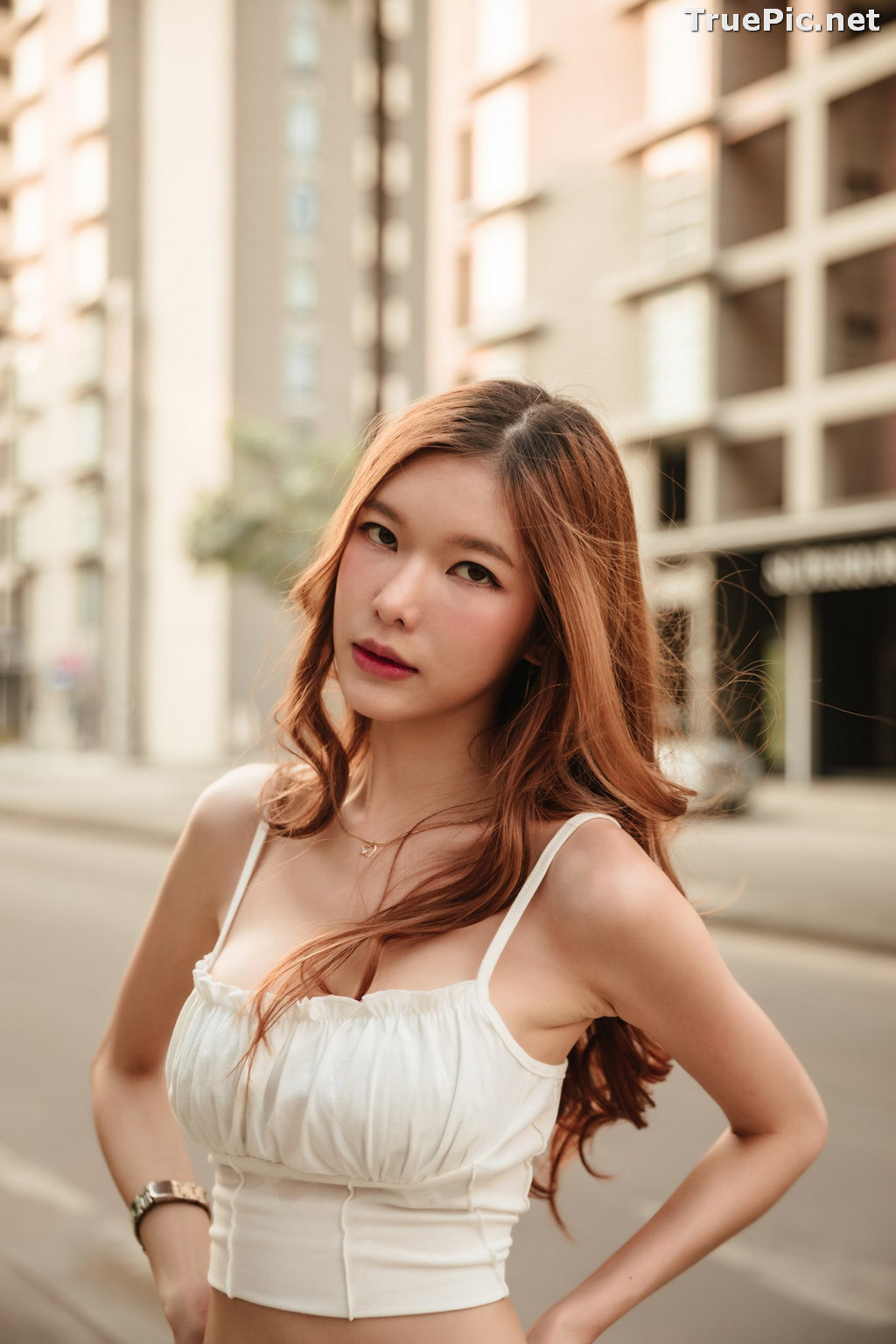 Image Thailand Model - Pierreploy Intira - Sunset with Beautiful Girl - TruePic.net - Picture-10