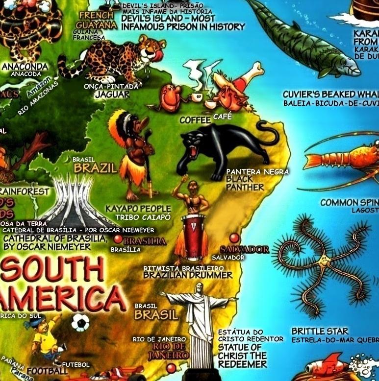 mapa do mundo ilustrado