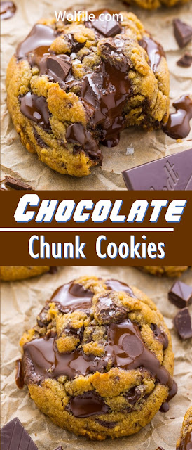 Chocolate Chunk Cookies Recipes #Cookies #Chocolate