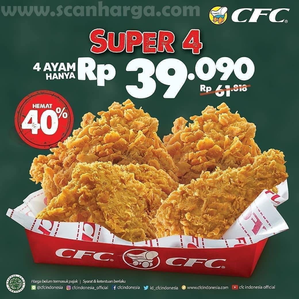 Promo CFC Paket Super 4 Pcs Ayam Hanya 39RB!