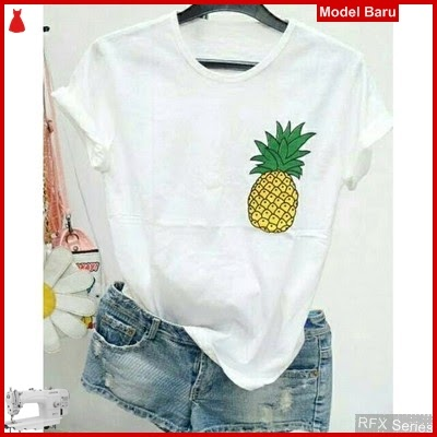 RFX098 MODEL PINEAPPLE TEE SPANDEK HALUS FIT TO L MURAH ONLINE