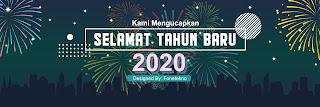 Desain Banner Spanduk Tahun Baru 2020