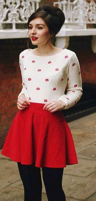 HOW TO WEAR A RED SKIRT