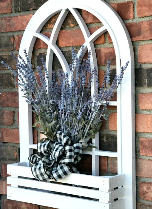 Make a DIY Arched Window Flower Box for the Front Door . Homeroad.net