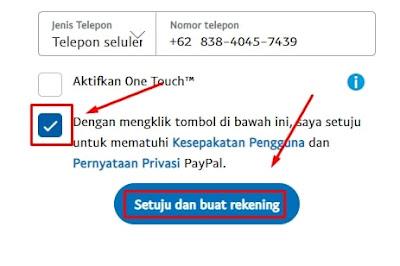 Memasukan Nomor Telepon Aktif