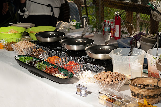 wedding buffet at Shadowood Farms wedding in Palm City Florida photo by Houghton Photography