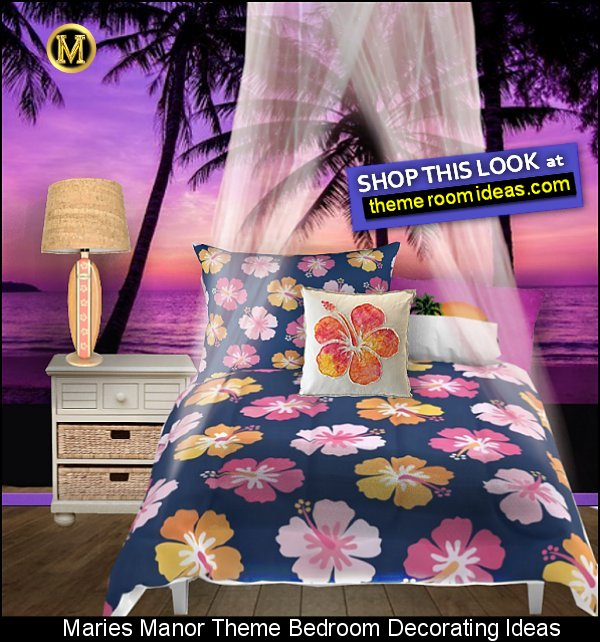 TROPICAL FLOWERS BEDDING tropical wallpaper mural tropical bedrooms tropical beach bedrooms