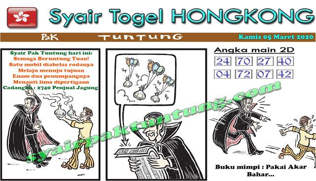 Prediksi Togel JP Hongkong Kamis 05 Maret 2020 - Prediksi Pak Tuntung