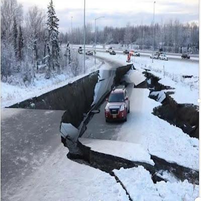 A magnitude 7.8 earthquake shook the coast of Alaska