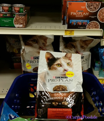 Purina Pro Plan Shredded in a cart at PetSmart